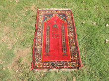 Circa 1960's Red Turkish Prayer Rug - bosphorusrugs  - 2