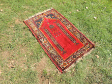 Circa 1960's Red Turkish Prayer Rug - bosphorusrugs  - 3
