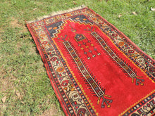 Circa 1960's Red Turkish Prayer Rug - bosphorusrugs  - 4