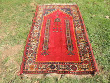 Circa 1960's Red Turkish Prayer Rug - bosphorusrugs  - 5