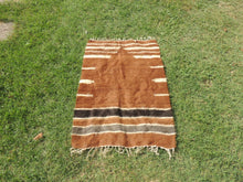 Brown Natural Undyed Goat Hair Turkish Prayer Rug - bosphorusrugs  - 2