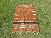 Brown Natural Undyed Goat Hair Turkish Prayer Rug - bosphorusrugs  - 3