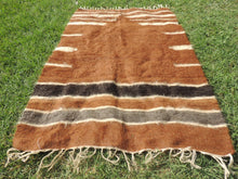 Brown Natural Undyed Goat Hair Turkish Prayer Rug - bosphorusrugs  - 5