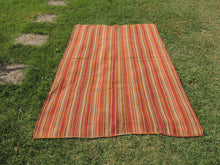 Striped Natural Kilim Rug - bosphorusrugs  - 2