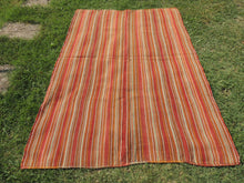 Striped Natural Kilim Rug - bosphorusrugs  - 3