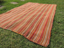 Striped Natural Kilim Rug - bosphorusrugs  - 4