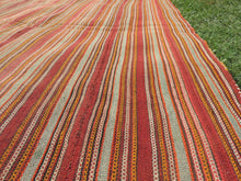 Striped Natural Kilim Rug - bosphorusrugs  - 5