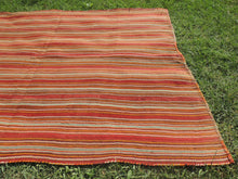 Striped Natural Kilim Rug - bosphorusrugs  - 6