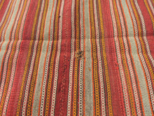 Striped Natural Kilim Rug - bosphorusrugs  - 7