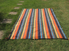 Striped Nomadic Turkish Kilim Rug - bosphorusrugs  - 2