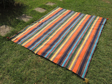 Striped Nomadic Turkish Kilim Rug - bosphorusrugs  - 3