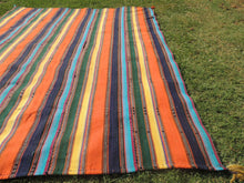 Striped Nomadic Turkish Kilim Rug - bosphorusrugs  - 5