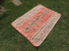 Pinky Turkish Floor rug Handwoven Kilim - bosphorusrugs  - 3