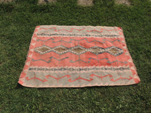 Pinky Turkish Floor rug Handwoven Kilim - bosphorusrugs  - 4