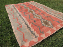 Pinky Turkish Floor rug Handwoven Kilim - bosphorusrugs  - 6