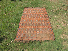 4x7 ft. Decorative Kilim Rug with Earthy Colors - bosphorusrugs  - 3
