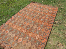 4x7 ft. Decorative Kilim Rug with Earthy Colors - bosphorusrugs  - 5