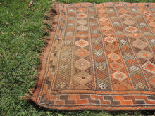 4x7 ft. Decorative Kilim Rug with Earthy Colors - bosphorusrugs  - 6