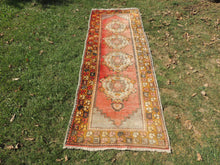 Hand knotted Turkish Runner Carpet with Worn Surface - bosphorusrugs  - 2
