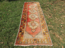 Hand knotted Turkish Runner Carpet with Worn Surface - bosphorusrugs  - 3