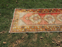 Hand knotted Turkish Runner Carpet with Worn Surface - bosphorusrugs  - 4