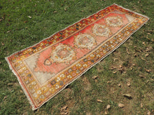 Hand knotted Turkish Runner Carpet with Worn Surface - bosphorusrugs  - 5