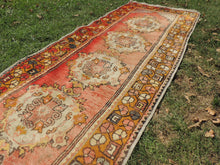 Hand knotted Turkish Runner Carpet with Worn Surface - bosphorusrugs  - 6