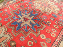 Antique Red Caucasian Kazakh Carpet - bosphorusrugs  - 4