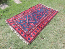 Navy and Red Turkish Wool Carpet Yagcıbedir - bosphorusrugs  - 3