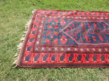 Navy and Red Turkish Wool Carpet Yagcıbedir - bosphorusrugs  - 4