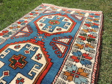 Blue turkish area rug
