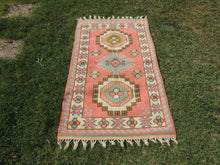 Pink Wool Turkish Area Rug Home Decor Carpet - bosphorusrugs  - 2