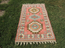 Pink Wool Turkish Area Rug Home Decor Carpet - bosphorusrugs  - 3