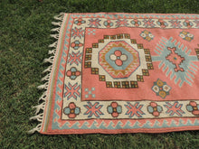 Pink Wool Turkish Area Rug Home Decor Carpet - bosphorusrugs  - 4