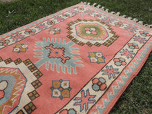 Pink Wool Turkish Area Rug Home Decor Carpet - bosphorusrugs  - 5