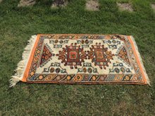 Orange and Beige Wool Turkish Carpet - bosphorusrugs  - 3