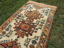 Orange and Beige Wool Turkish Carpet - bosphorusrugs  - 4