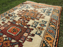 Orange and Beige Wool Turkish Carpet - bosphorusrugs  - 5