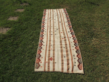 White Bohemian Kilim Rug with Tribal Motifs - bosphorusrugs  - 3