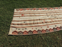 White Bohemian Kilim Rug with Tribal Motifs - bosphorusrugs  - 4