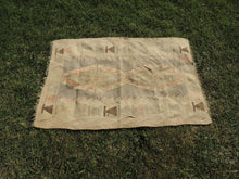 Small Boho Turkish Kilim Rug with Earthy Pastel Colors - bosphorusrugs  - 4