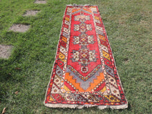 3x10 ft. Colorful Turkish Runner Rug