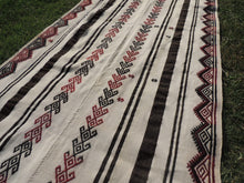 White striped Boho Runner Kilim Rug - bosphorusrugs  - 4