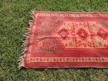 "Red Turkish Area Rug ""Faded"" - bosphorusrugs  - 4"