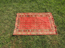 handmade wool red carpet
