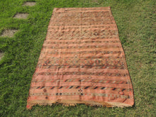 Vintage tribal Turkish kilim rug with pastel colors - bosphorusrugs  - 2
