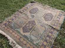 Wool on Cotton Vintage Soumak Kilim Rug - bosphorusrugs  - 3