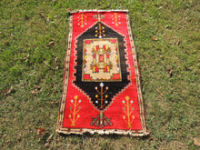 Red and Black area rug