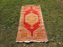 3x6 ft. Red and Orange Wool Turkish Area Rug - bosphorusrugs  - 2