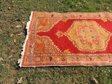 3x6 ft. Red and Orange Wool Turkish Area Rug - bosphorusrugs  - 3